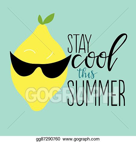 Cool for the summer clipart jpg free stock Vector Art - Stay cool this summer. EPS clipart gg87290760 - GoGraph jpg free stock
