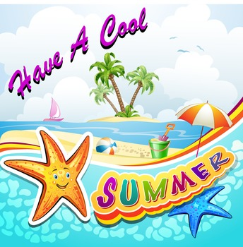 Cool for the summer clipart image black and white download Have A Cool Summer Tag Worksheets & Teaching Resources | TpT image black and white download