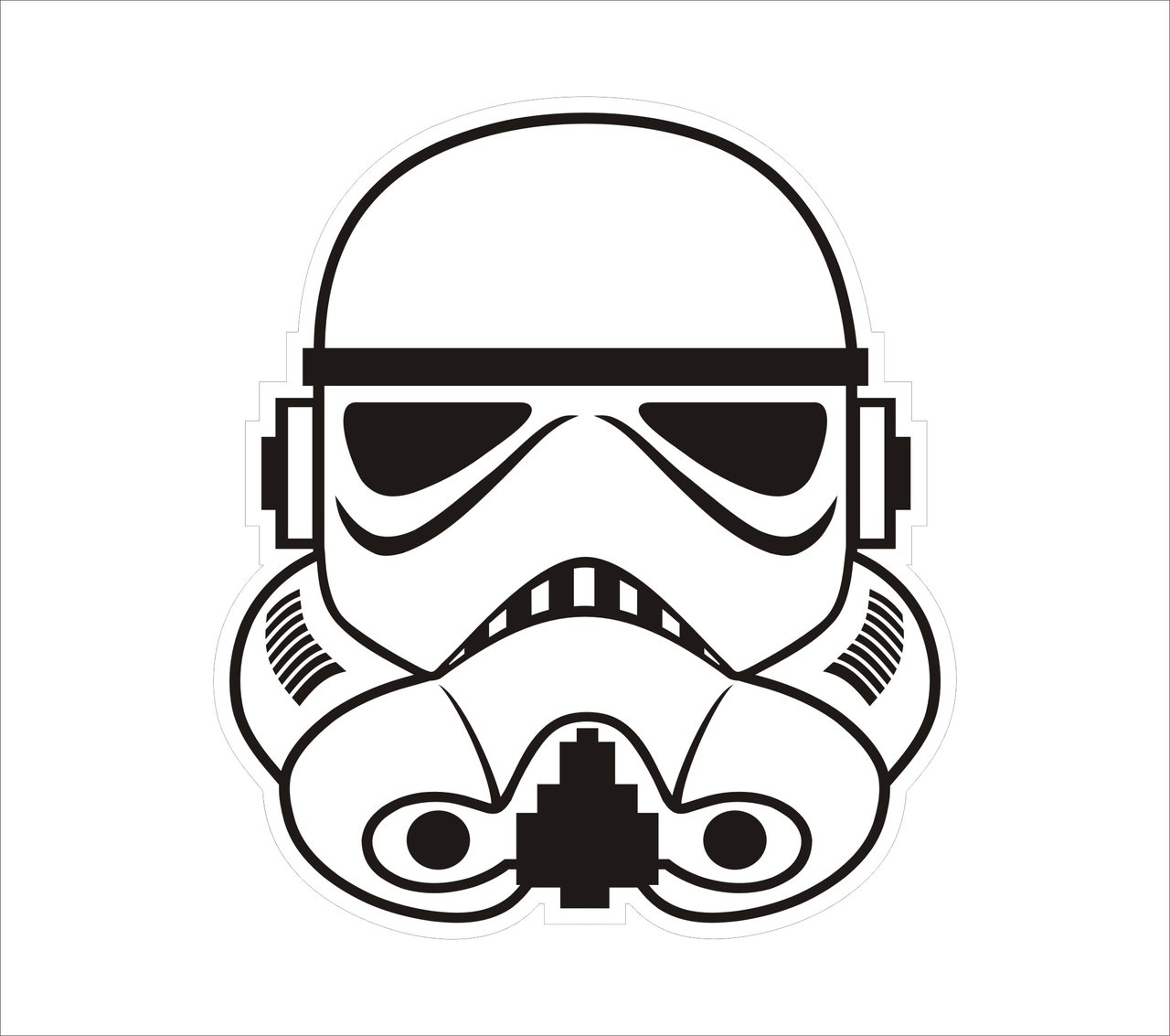 Cool free star wars black and white simple clipart svg freeuse library Free Star Wars Black And White Clip Art, Download Free Clip Art ... svg freeuse library