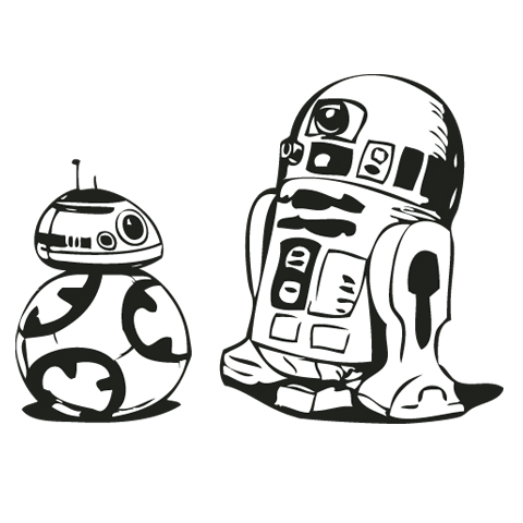 Cool free star wars black and white simple clipart banner black and white download Starwars clipart simple - 158 transparent clip arts, images and ... banner black and white download