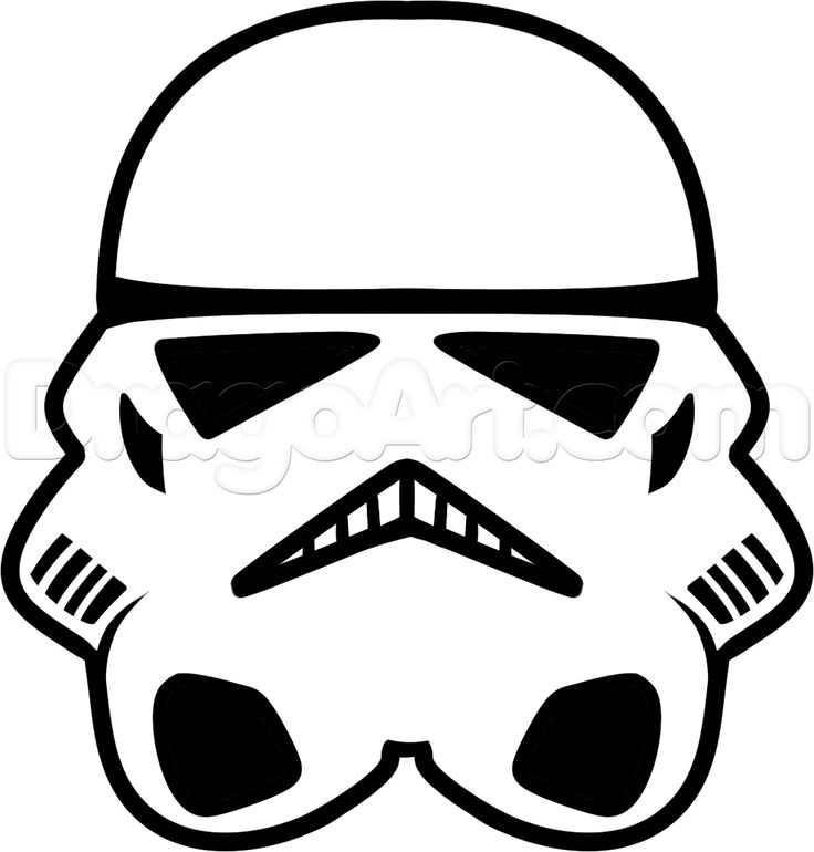 Cool free star wars black and white simple clipart svg black and white library How to Draw a Stormtrooper Easy, Step by Step, Star Wars ... svg black and white library