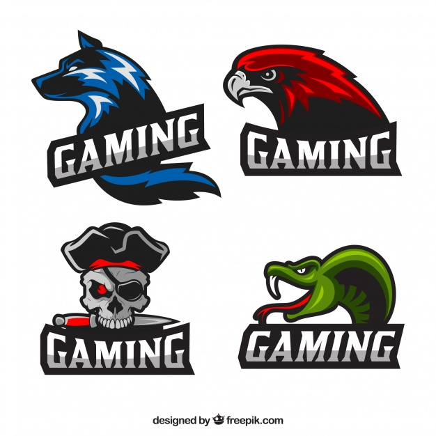 Cool gaming logo clipart clipart transparent stock Video game logo collection with flat design Vector | Free Download clipart transparent stock