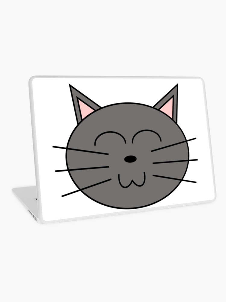 Cool gray cliparts svg freeuse stock Cool Grey Clipart Cat Design | Laptop Skin svg freeuse stock