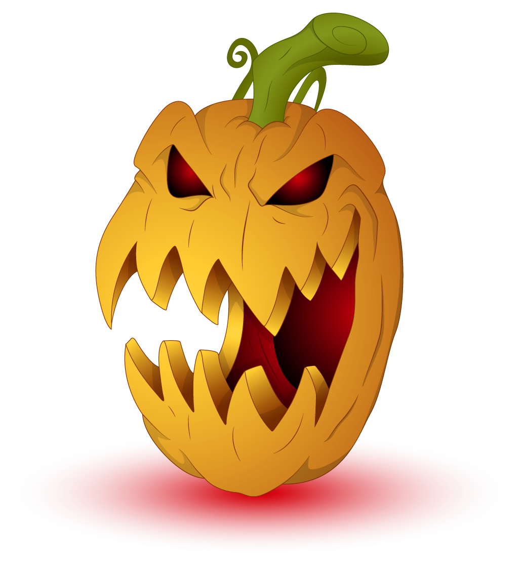Decorative pumpkin clipart png black and white stock Scary Halloween Clip Art – Fun for Christmas png black and white stock