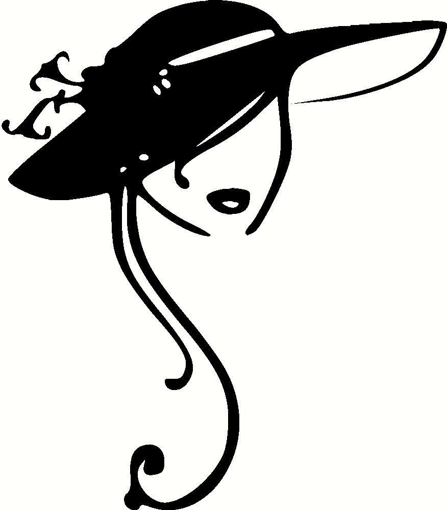Woman in hat clipart jpg freeuse download Vintage Ladies Hats Clip Art Clipart | illustrations | Fashion ... jpg freeuse download