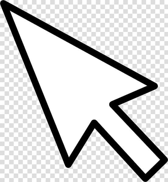 Cool mouse cursor clipart download Computer mouse Pointer Arrow , Mouse Cursor , white arrow on black ... download