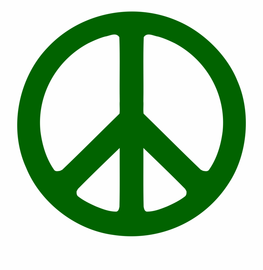 Cool peace sign clipart transparent download Green Peace Symbol - Peace Sign Clipart Free PNG Images & Clipart ... transparent download