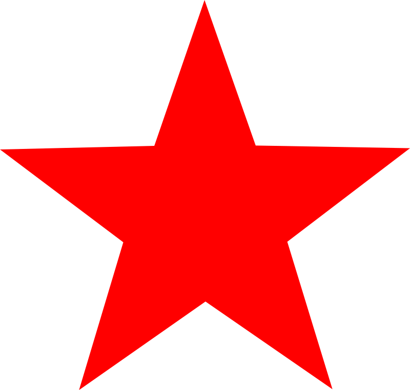 Pretty star clipart clipart black and white Red Star Clipart (43+) Red Star Clipart Backgrounds clipart black and white