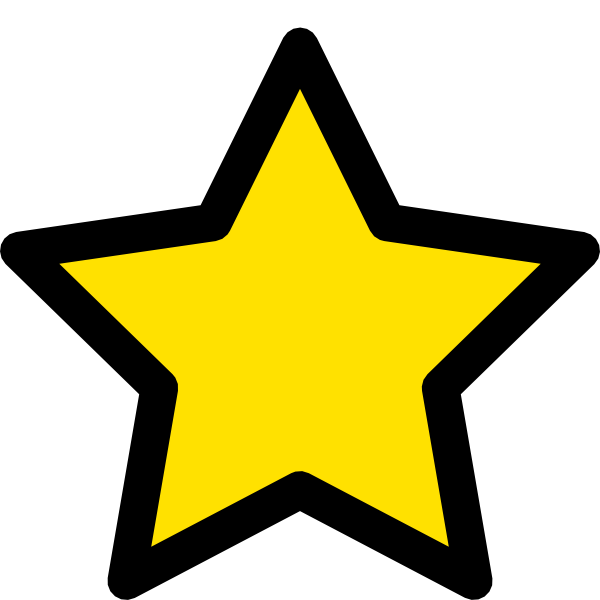 Drawn star clipart png stock Star Clip Art at Clker.com - vector clip art online, royalty free ... stock