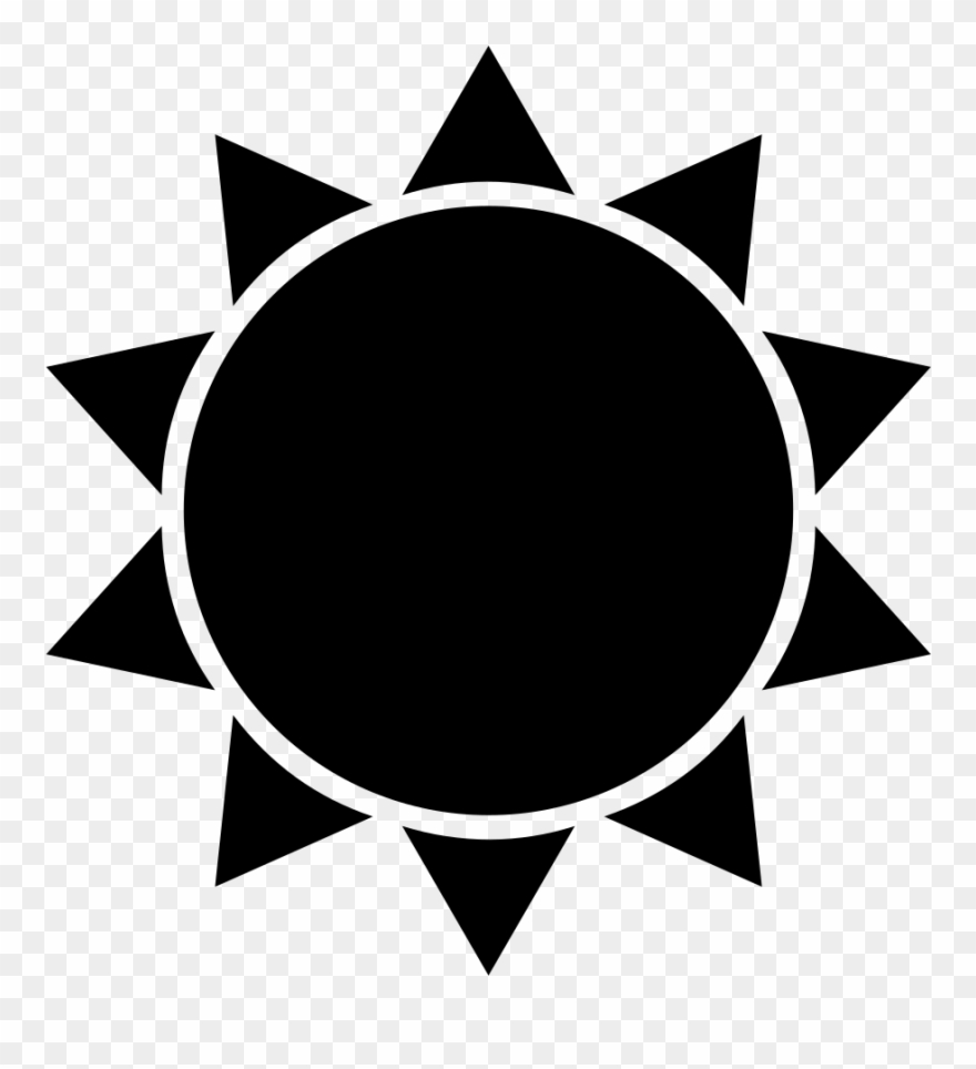 Cool sun clipart siloette black and white banner library download Sun Silhouette Clip Art At Getdrawings - Flat Icon Sun - Png ... banner library download