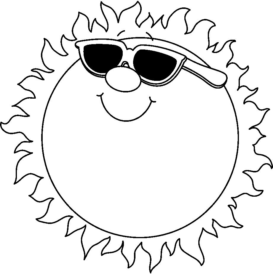 Hot summer dinosaur clipart black and white png free black and white clip art summer - Google Search | Clip Art ... png