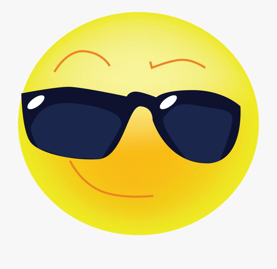 Sunglasses cool clipart clip art black and white stock Sunglasses Emoji Clipart Transperent - Emoticon Cool Png #158432 ... clip art black and white stock