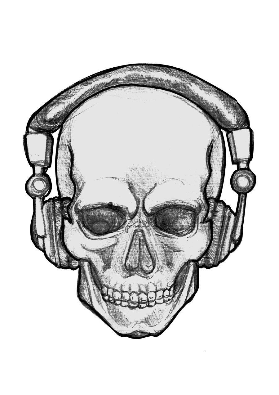 Cool things to draw clipart image black and white library People With Headphones Drawing - ClipArt Best | drawing | Drawings ... image black and white library
