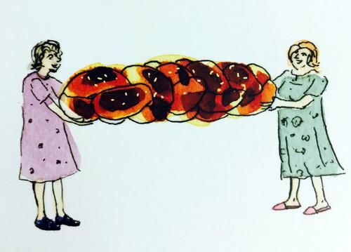Coole oma clipart. An old school challah