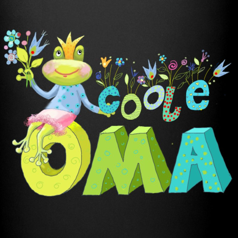 Coole oma clipart banner freeuse stock Frosch für Oma Tasse | Spreadshirt banner freeuse stock