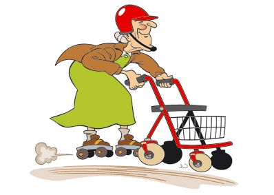 Coole oma clipart. Rollator race google search
