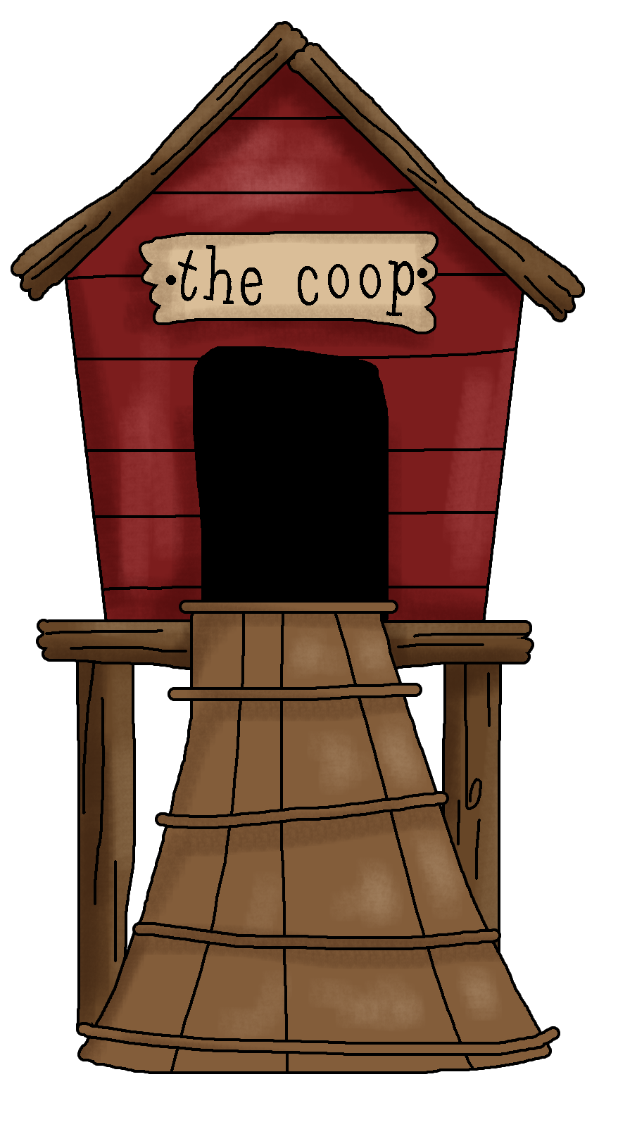 Coop clipart clipart freeuse Hen House Clipart - Clipart Kid | BaAwKKK...I\'m FINALLY a CHICKEN ... clipart freeuse