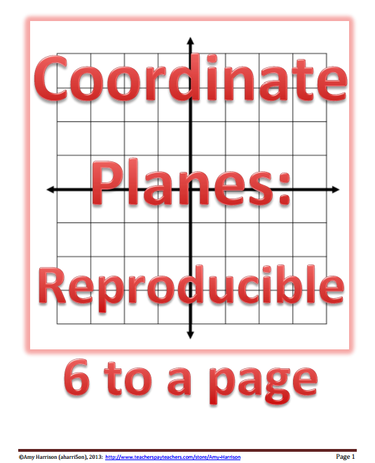 Coordinate plane clipart clipart library download Blank Coordinate Planes – Reproducible | teaching math in a ... clipart library download