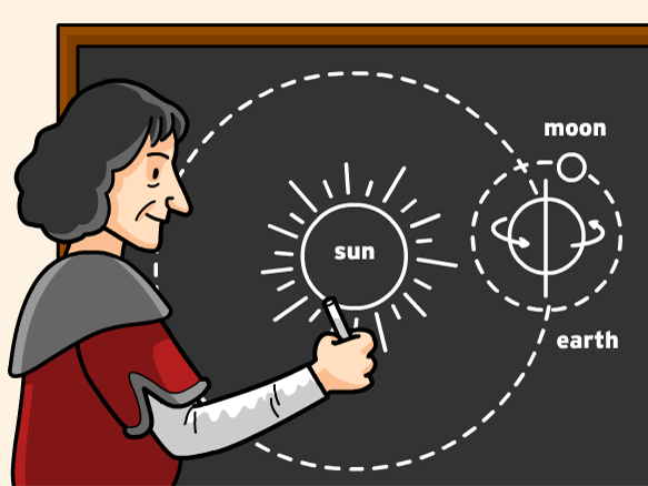 Copernicus clipart graphic download Copernicus and his Heliocentric Theory   Clip Art for Classroom ... graphic download