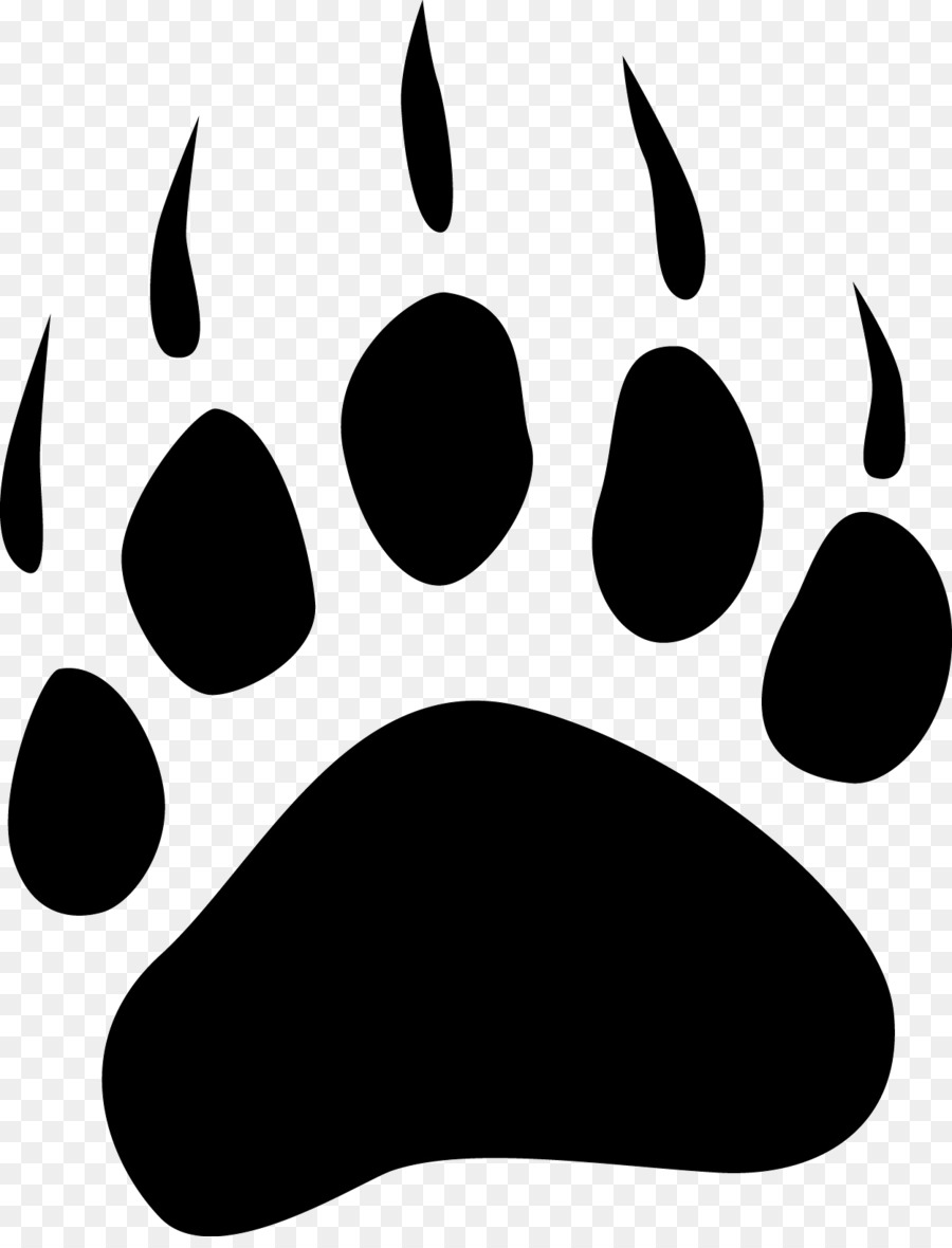 Huella de oso polar clipart blanco y negro vector freeuse School Black And White clipart - School, Student, Black, transparent ... vector freeuse