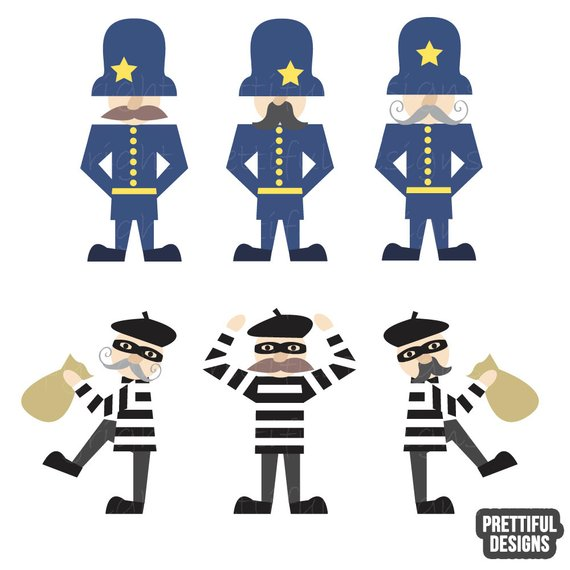 Mustache cop clipart banner freeuse Vintage Police Bobbies Cops and Robbers Clip Art Mustache Retro ... banner freeuse