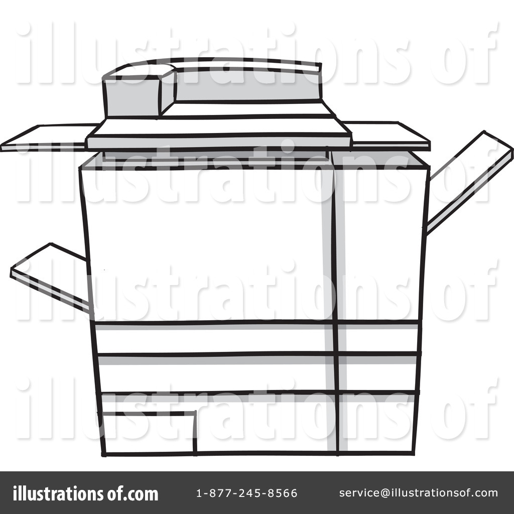 Copy machine clipart banner transparent download Copier Clipart #1106660 - Illustration by Cartoon Solutions banner transparent download
