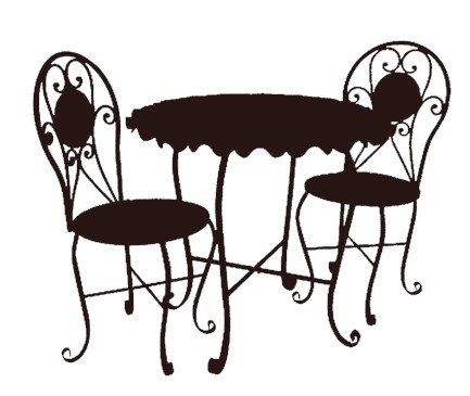 Copyright free clipart for commercial use jpg royalty free library bistro cafe furniture set black clip art graphics image royalty ... jpg royalty free library