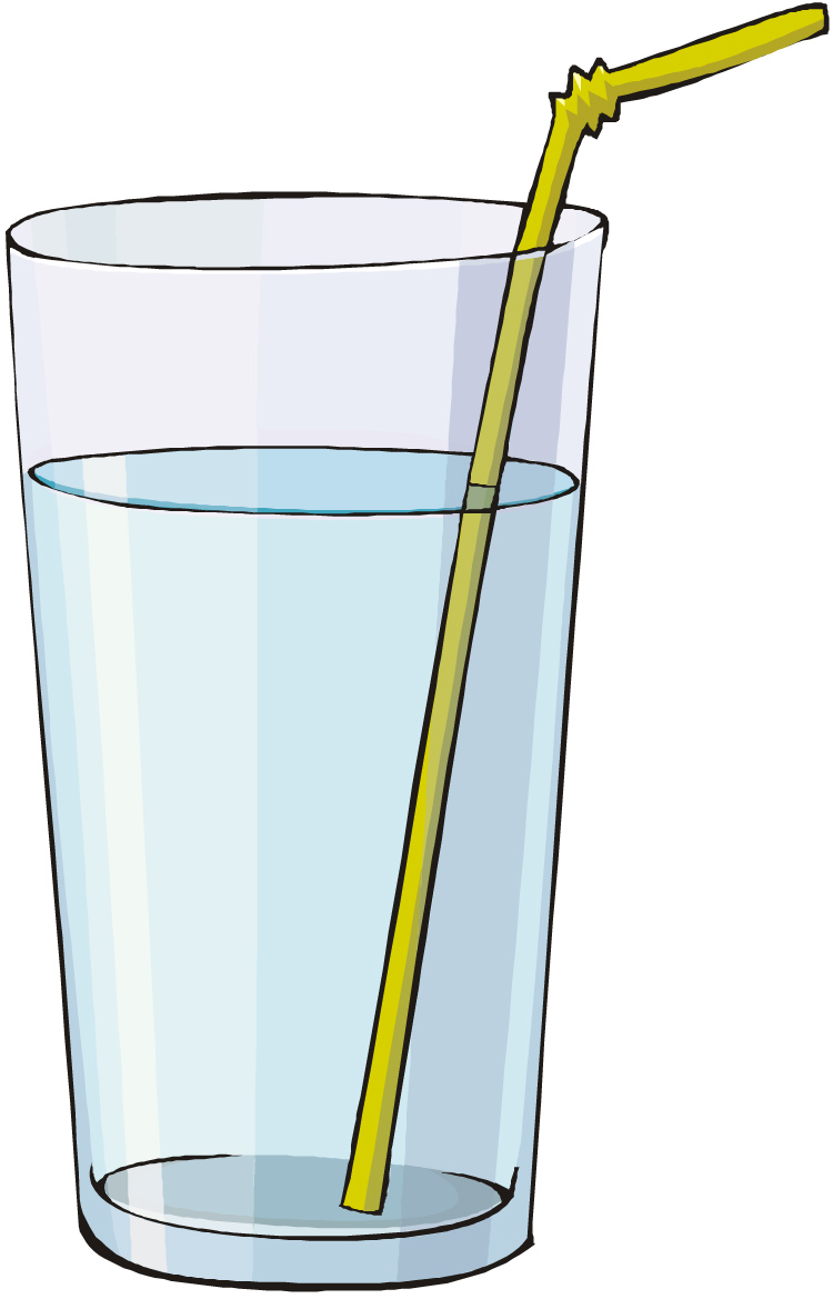 Copyright free clipart glass of water with ice