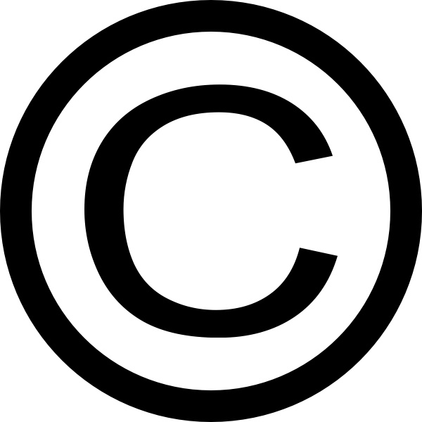 Copyright logo white clipart image royalty free download Thin Copyright Symbol clip art Free vector in Open office drawing ... image royalty free download