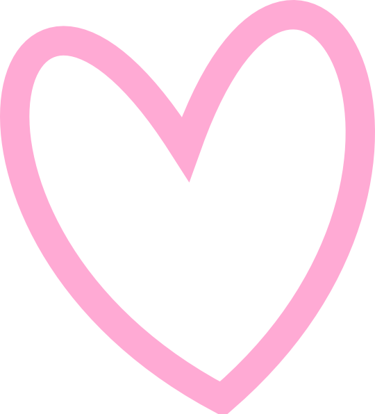 Pink heart outline clipart clip art library Slant Pink Heart Outline Clip Art at Clker.com - vector clip art ... clip art library