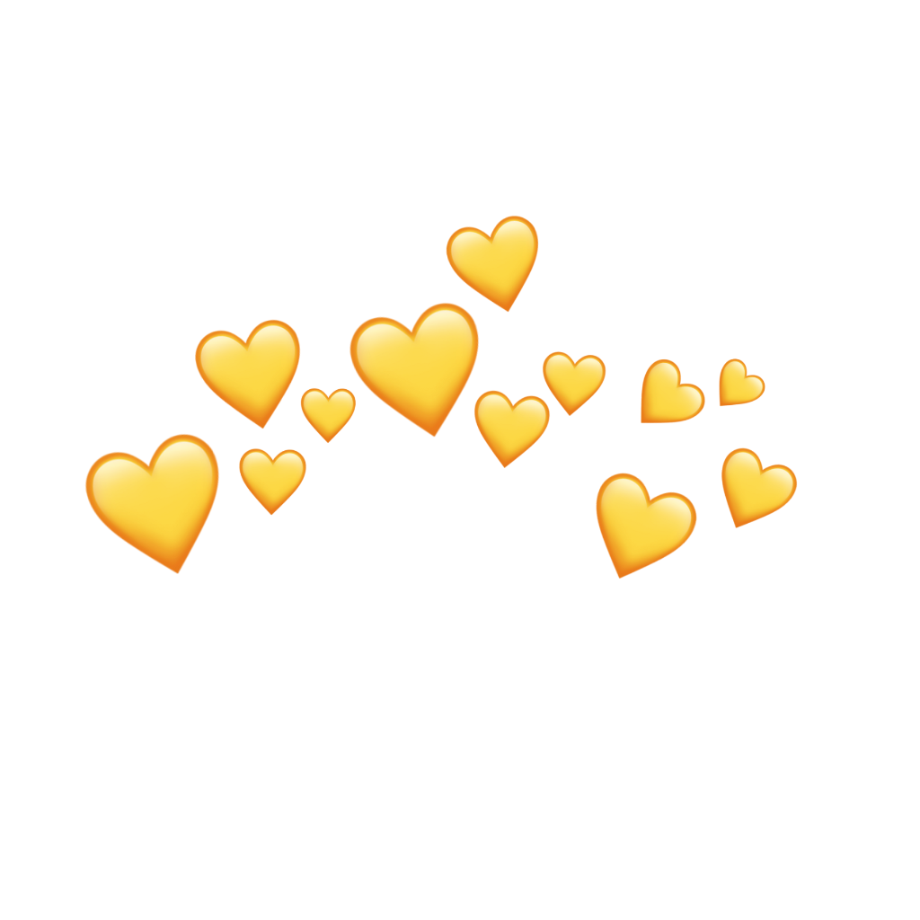 Hearts snapchat filter clipart image transparent stock yellow amarillo tumblr corazones corazón... image transparent stock