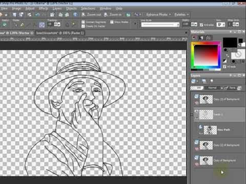 Corel paintshop pro cliparts picture library Paint Shop Pro Tutorial - How to Turn a Photo to Line-Art by VscorpianC picture library