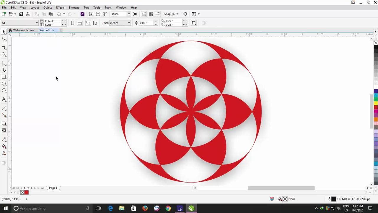 Coreldraw clipart access for coreldraw 8 you tube banner How to Draw Seed of Life | CorelDraw X8 Tutorial | CorelDraw X8 ... banner