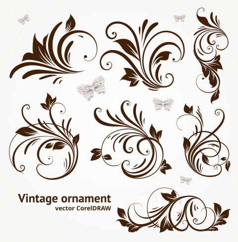 Clipart cdr free download vector freeuse Free Download Vector Vintage Ornament Format CorelDRAW cdr. (302 kb ... vector freeuse