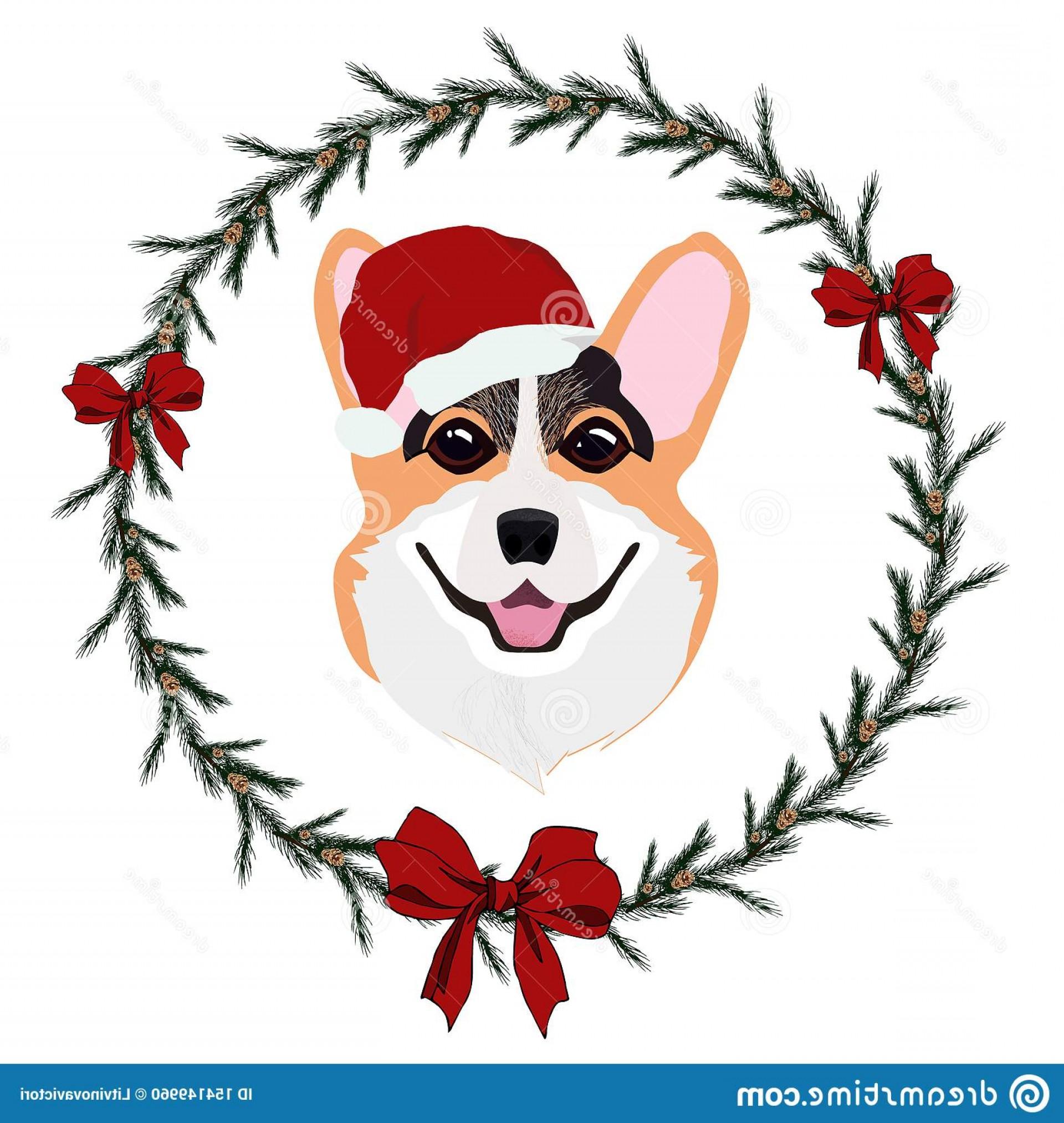 Corgi christmas hat clipart vector free download Corgi Christmas Vector   SOIDERGI vector free download