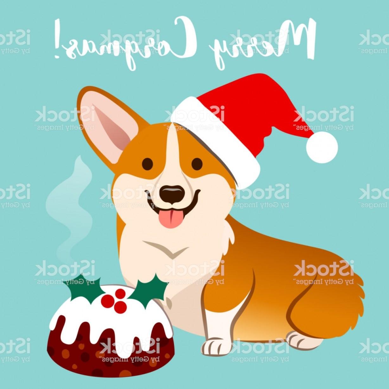 Corgi christmas hat clipart clipart royalty free Corgi Christmas Vector | SOIDERGI clipart royalty free