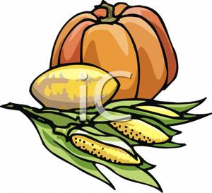 Corn beans and squash clipart graphic black and white download Pumpkin, Squash and Corn - Royalty Free Clipart Picture graphic black and white download