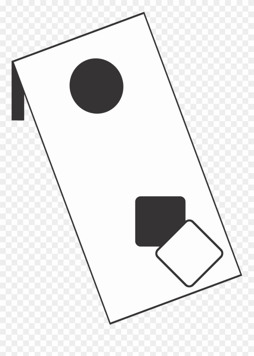Corn hole game clipart black and white transparent download Cornhole Clipart Corn Hole - Cornhole Clipart Black And ... transparent download