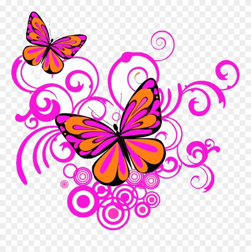 Corner butterflies clipart clipart royalty free stock Butterfly Corner Designs Png Clipart Clip Art - Pink Butterfly ... clipart royalty free stock