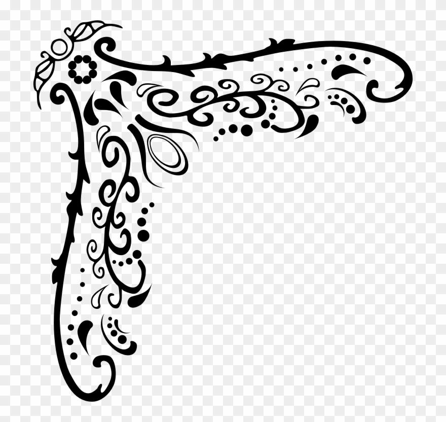 Corner flourish clipart vector free stock Medium Image - Free Clipart Corner Flourish - Png Download (#3525466 ... vector free stock