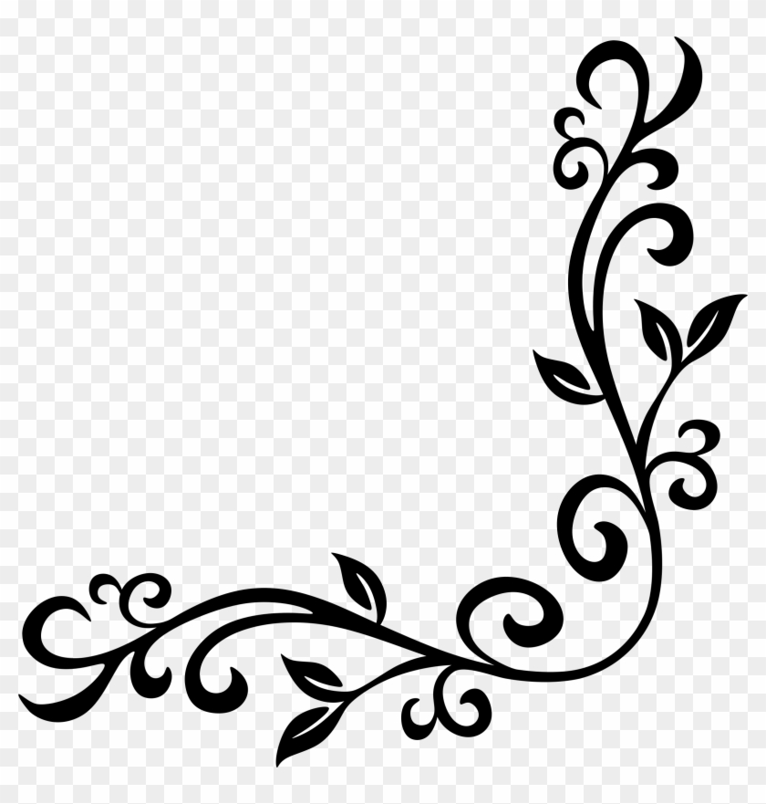 Page corners clipart clip royalty free download Corner Flourish - Corner Frames Clip Art, HD Png Download ... clip royalty free download