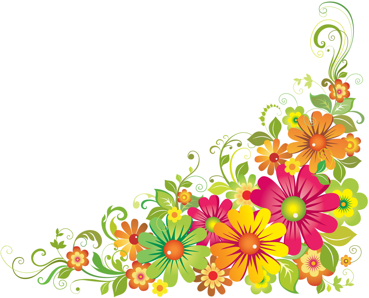 Flower corner border clipart free svg freeuse library 0_64762_703f1e17_orig.png | Pinterest | Clip art, Corner and ... svg freeuse library