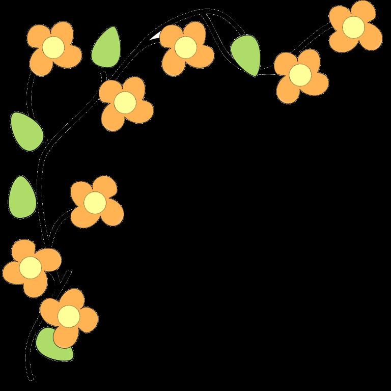 Free clip art borders. Flower corner clipart