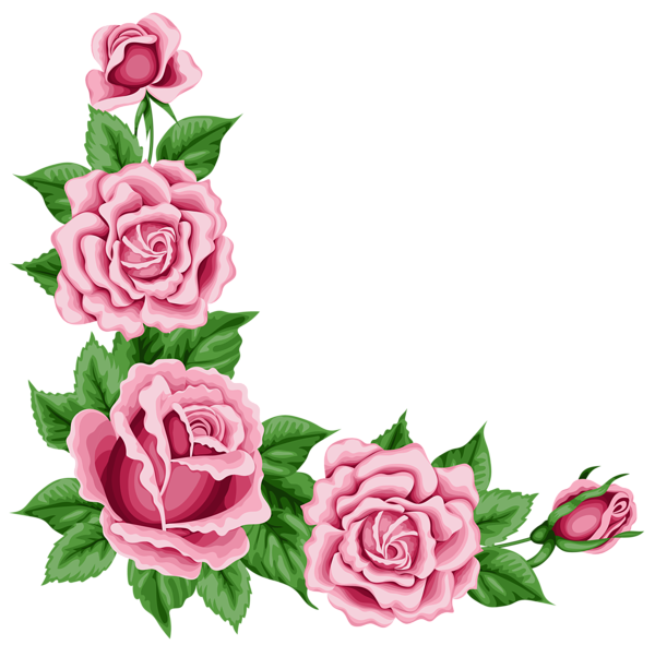 Vintage flower border clipart graphic freeuse stock Roses Corner Decoration PNG Clipart Picture | Roses | Pinterest ... graphic freeuse stock