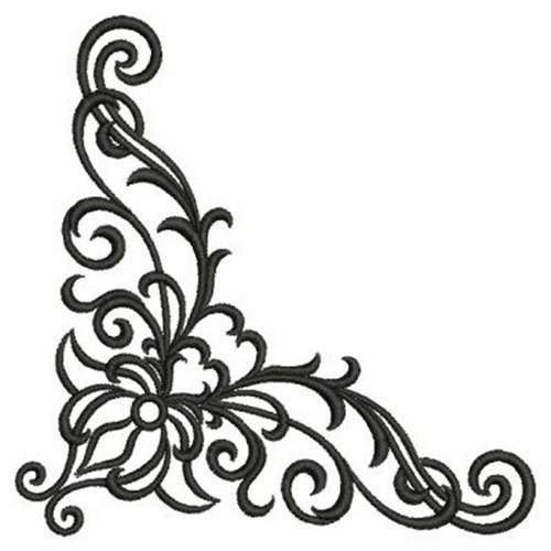 Corner patterns clipart. Designs kid scroll design