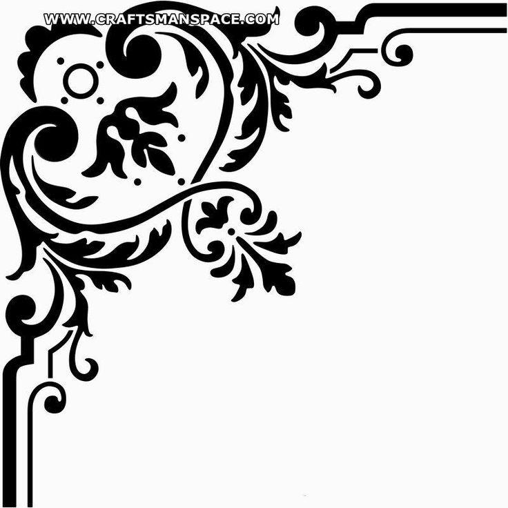 Top ideas about bordas. Corner patterns clipart