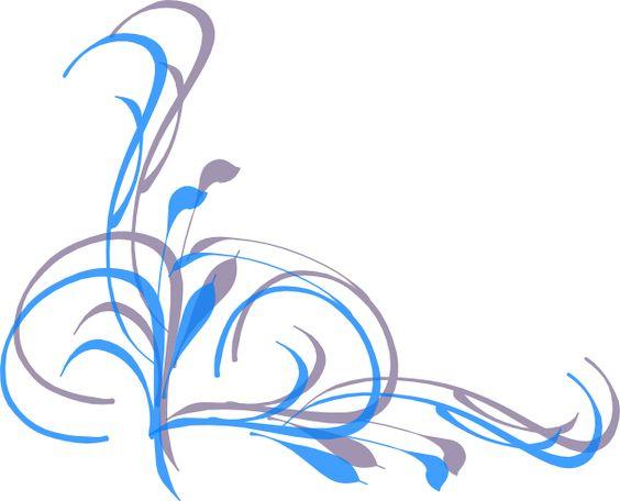 Corner patterns clipart. Simple swirl designs png
