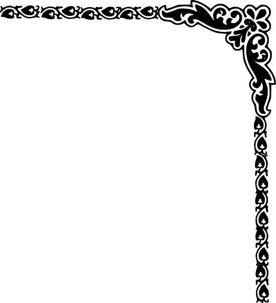 Corner patterns clipart picture freeuse Fancy Borders Clip Art | Fancy Vine Corner Border Design Image ... picture freeuse