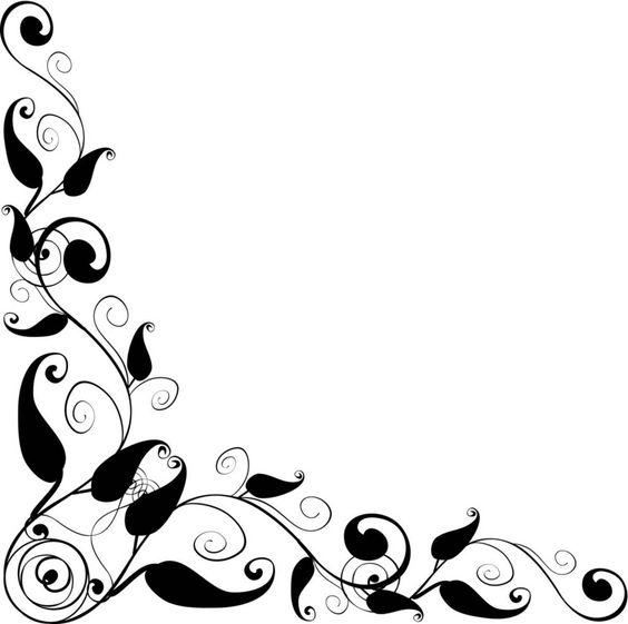 Corner patterns clipart clipart black and white download Floral Design corner frame   vector - ClipArt Best | Clipart ... clipart black and white download
