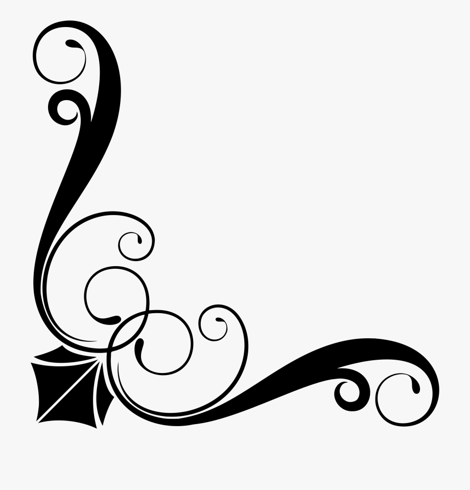 Corners and borders clipart vector free Corner Clipart Ornamental - Simple Corner Border Vector Png #645399 ... vector free